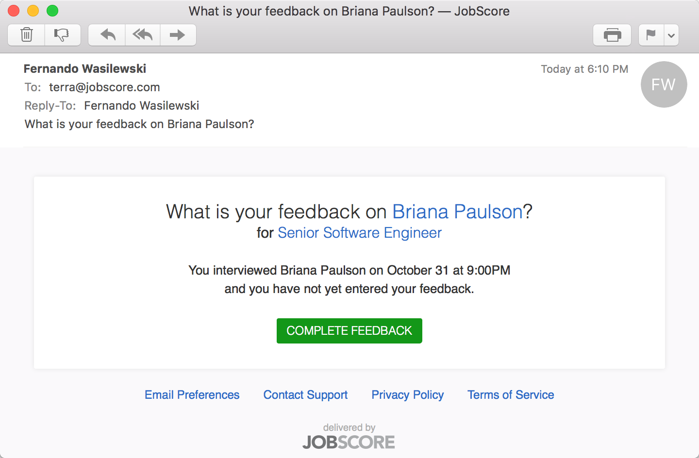 what are interview email reminders how do they work jobscore help